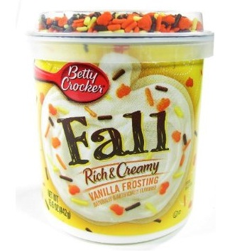 Betty Crocker Fall Vanilla Frosting with Sprinkles Displa...