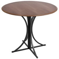 Boro Contemporary Dining Table in Walnut and Black by LumiSource