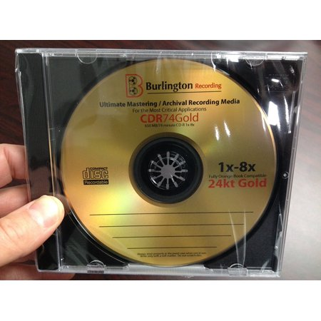 BURLINGTON RECORDING 24 KT GOLD ULTIMATE ARCHIVAL MASTERING CD-R *25-Pack - Party Store Burlington Ma