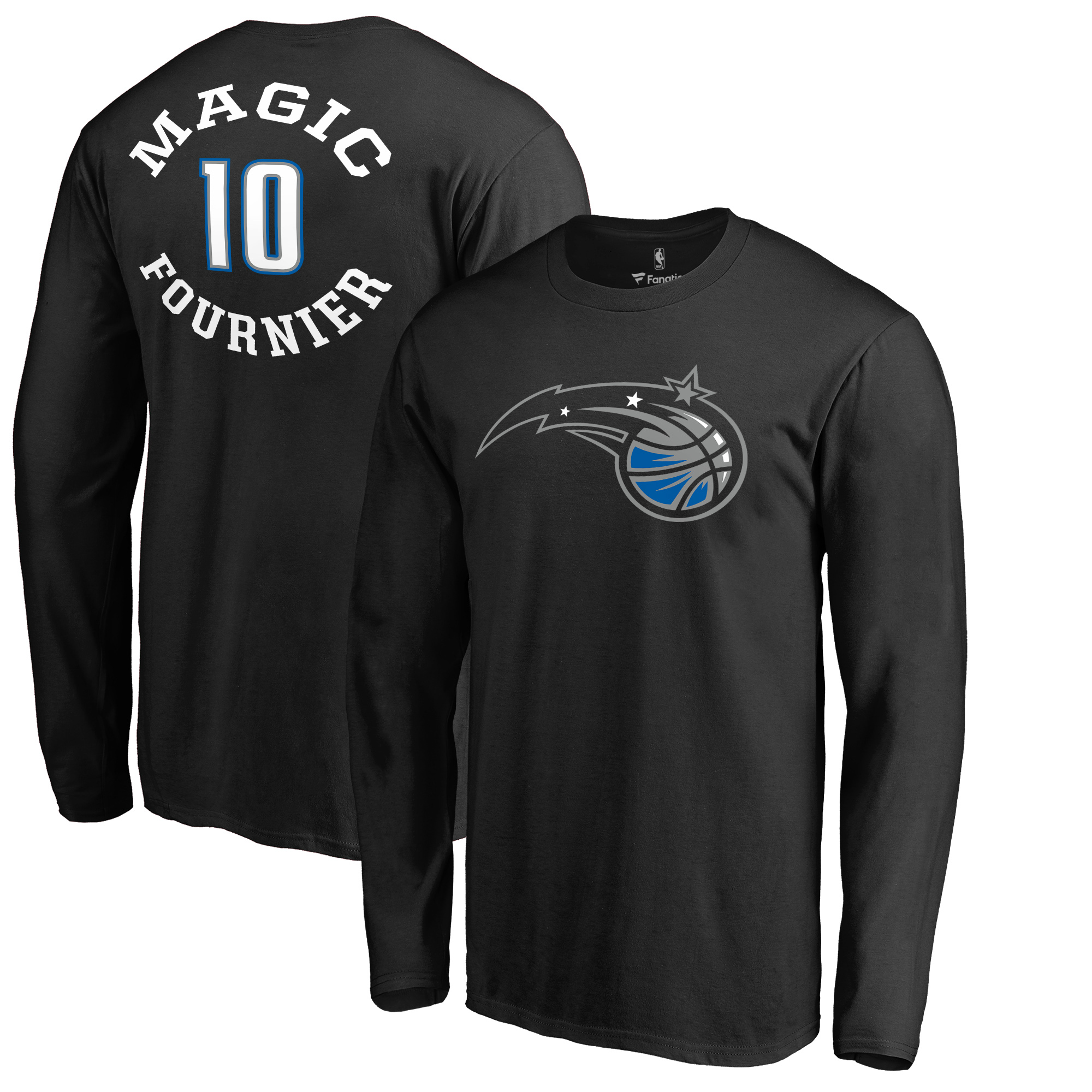 Evan Fournier Orlando Magic Fanatics Branded Round About Name & Number Long Sleeve T-Shirt - Black