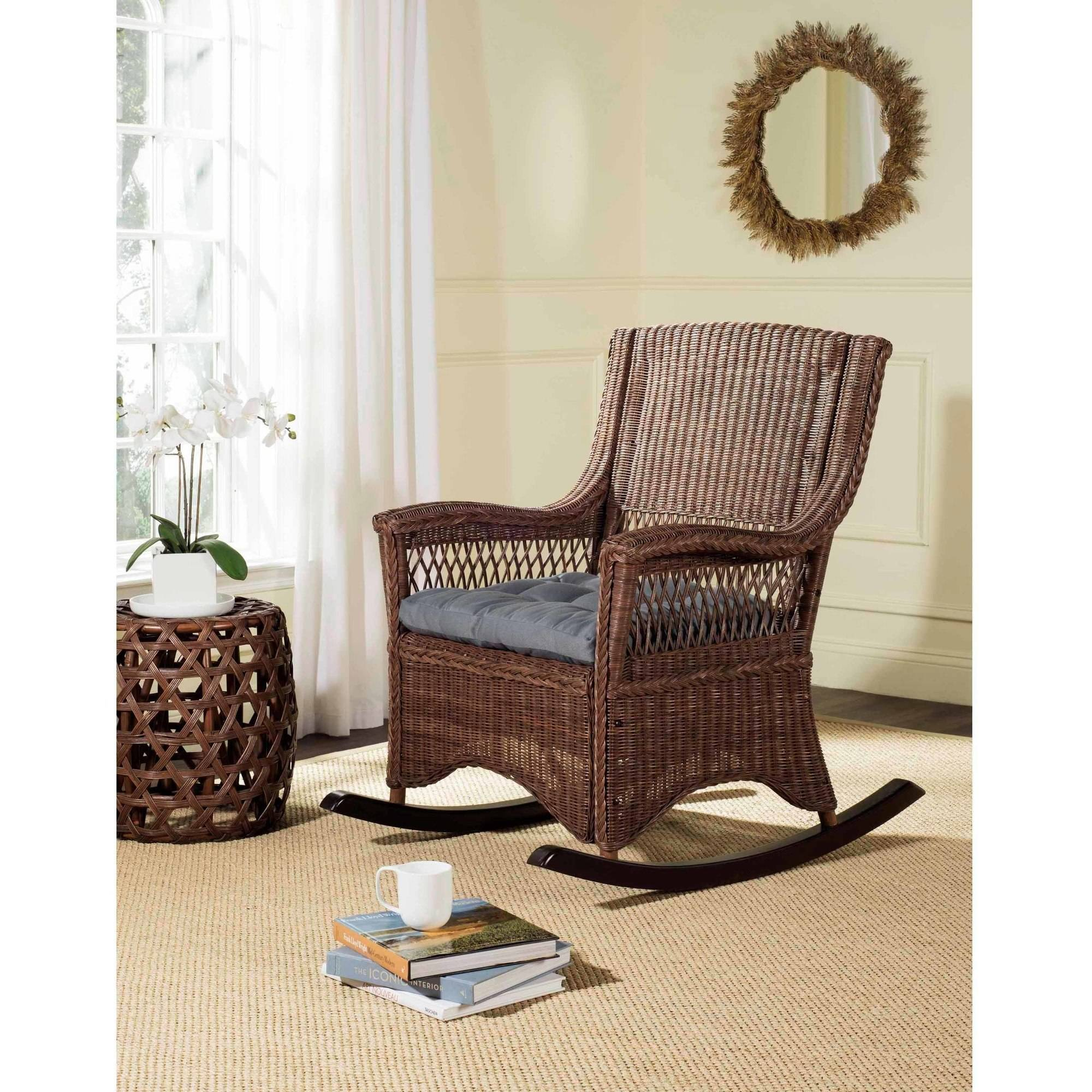 Safavieh Aria Rattan Rocking Chair