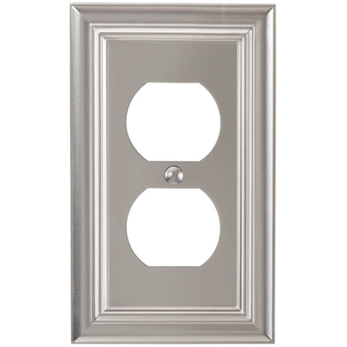 elumina continental cast satin nickel wallplate duplex