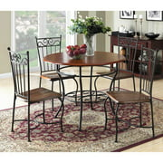 Dorel Living 5-Piece Dinette Set, Wood and Metal