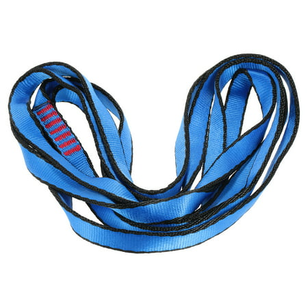 Rescue Rope Runner - 23KN 16mm 150cm/4.9ft Rope Runner Webbing Sling Flat Strap Belt for Mountaineering Rock Climbing Caving Rappelling Rescue Engineering