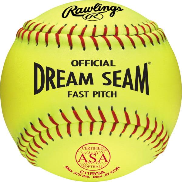 "Rawings 11"" Pro Tac Dream Seam Certified ASA Softball (Dozen)"