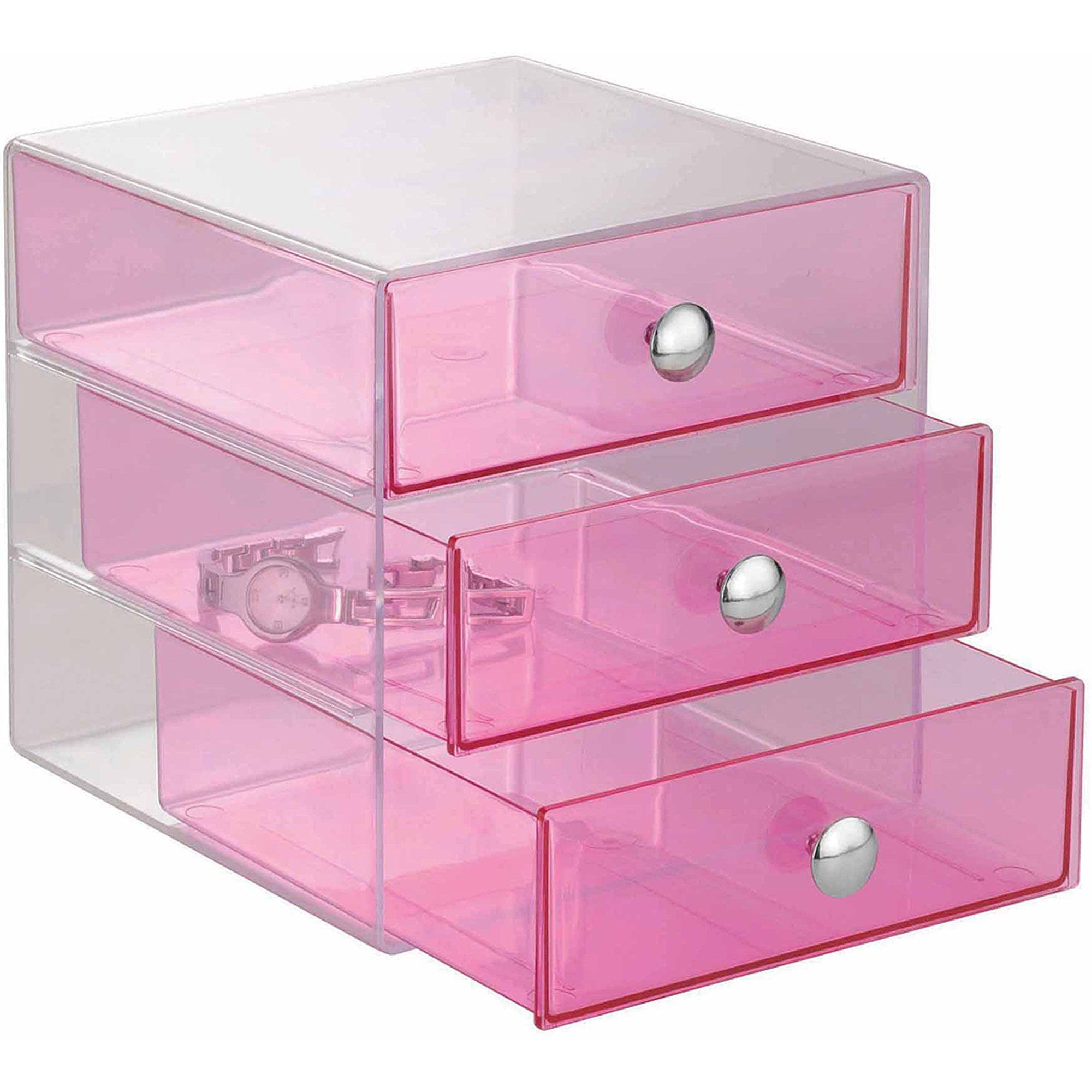 interdesign cosmetic and jewelry storage vanity 3-drawer