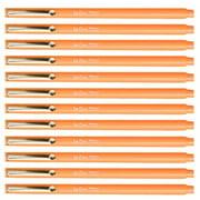 Uchida Fluorescent Orange Le Pen .3MM Micro Ex Fine Synthetic Point Smudge-Proof Ink 12 Pens