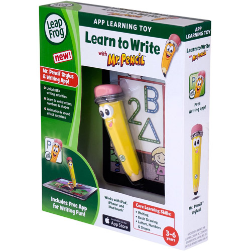 LeapFrog Learn to Write with Mr. Pencil Stylus & Writing App (works with iPhone 4 4s 5, iPod touch 4G & iPad) by LeapFrog