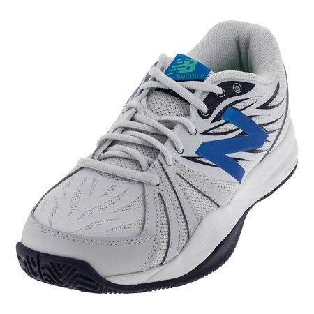 Men`s 786v2 D Width Tennis Shoes Arctic Fox and Electric Blue
