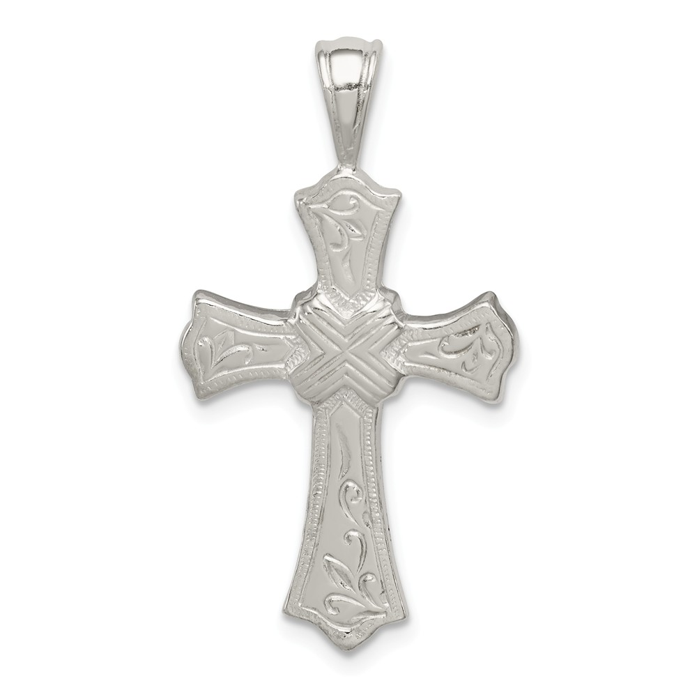 Sterling Silver Fancy Latin Cross Pendant