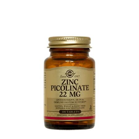 Solgar Zinc Picolinate 22 mg - 100 Tablets ()