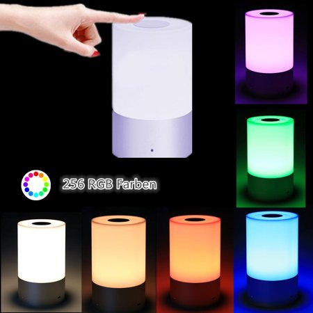 Acrylic Modern Table Lamp - LED Bedside Lamp, Touch Sensor Table Lamp, Dimmable Warm White RGB Color Change Rechargeable Smart Modern Desk Lamp Night Lap for Bedroom Living Room Office (US STOCK)