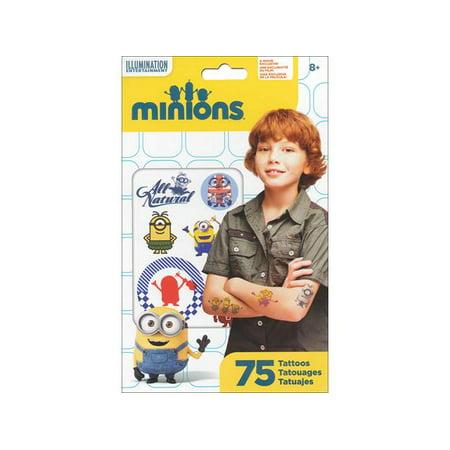 SandyLion Universal Minions Tattoo 75pc - Minion Makeup