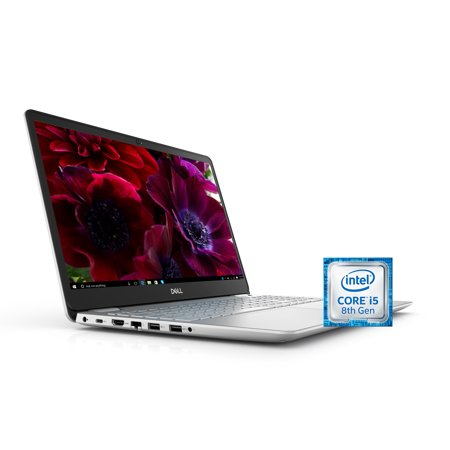 Dell Inspiron 15 5584 Laptop, 15.6'', Intel Core i5-8265U, 8GB RAM, 256 GB SSD, Intel UHD Graphics 620, Windows 10 Home i5584-5868SLV-PUS