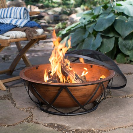 Coral Coast Taos 26 in. Rubbed Bronze Wood Burning Fire