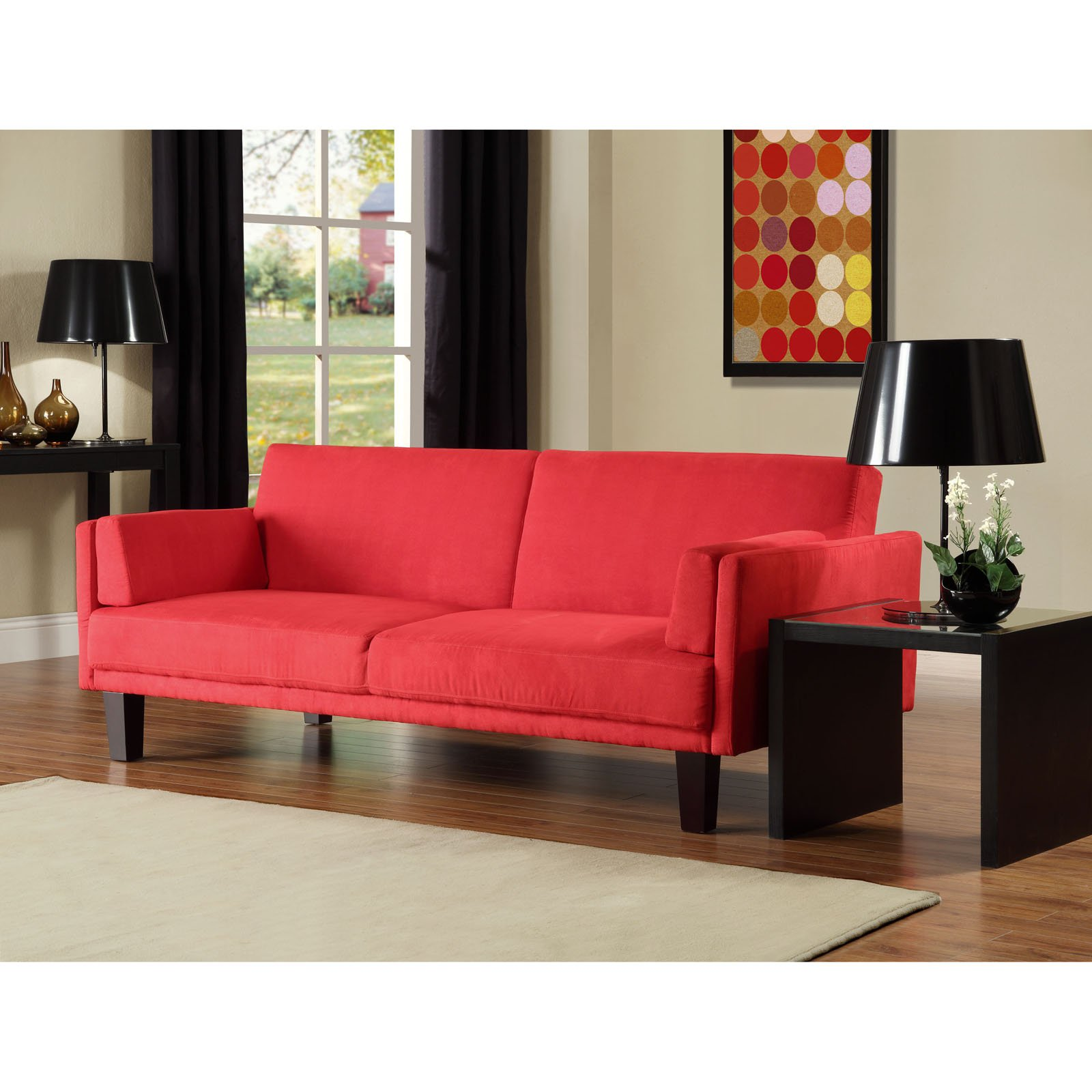 Barcelona Convertible Futon Sofa Bed And Lounger With Pillows, Multiple  Colors - Walmart