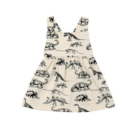 Toddler Kids Girl Dinosaur Dress Sleeveless Princess Party Dresses Girls Summer Outfit Clothes](Dinosaur Fancy Dress Ideas)