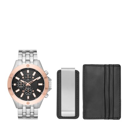 Men's Watch Gift Set with Wallet and Money Clip