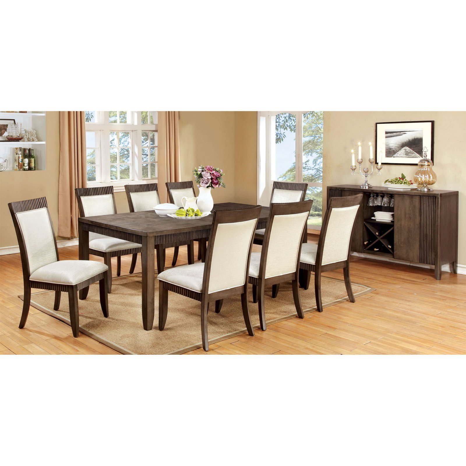 Furniture of America Midkiff Transitional Wood Dining Table
