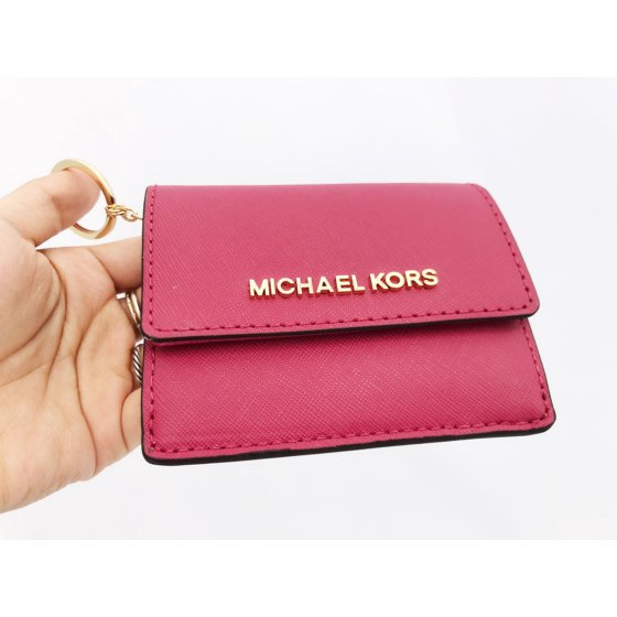 764fb5f84721 Michael Kors - Michael Kors Jet Set Card Holder Key Ring Chain ID ...
