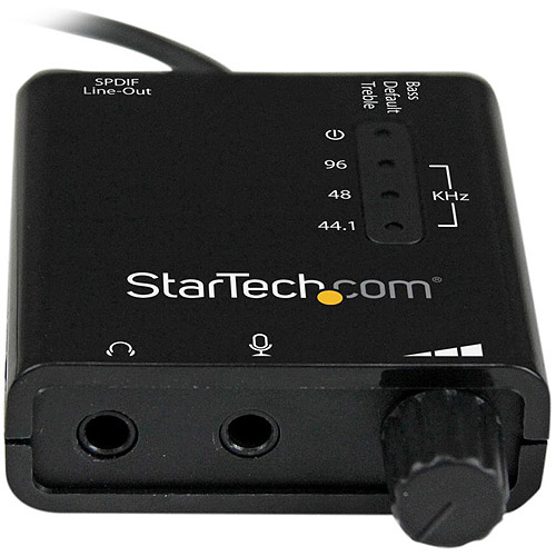 StarTech USB Stereo Audio Adapter External Sound Card with S/PDIF Digital Audio