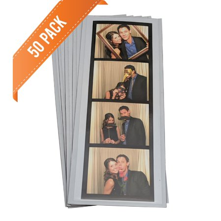 PHOTO BOOTH NOOK 2x6 Flexible Magnetic Photo Booth Strip Pouch Frame, Set of (Create Photo Booth Frame)