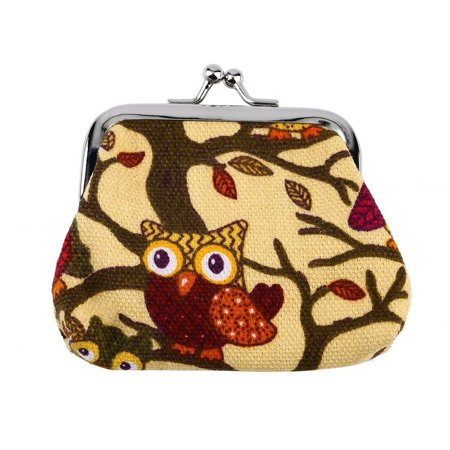Multi-color Owl Design Coin Money Bag Purse Wallet Canvas For Women Girl Lady - image 8 of 8