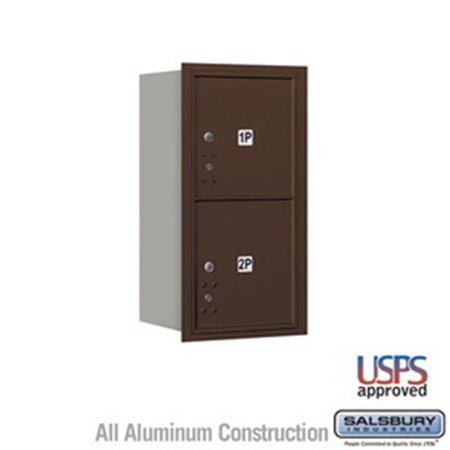 4 Door High Unit 16 5 in Double Column 4C Horizontal Mailbox with Rear