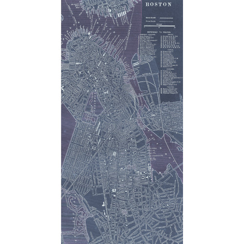 Empire Art Direct 'Antique Map of Boston' Graphic Art Print on Canvas