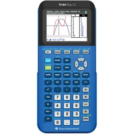 Texas Instruments TI-84 Plus CE Graphing Calculator, Blue