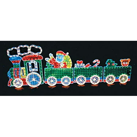 Let it Snow Collection Indoor / Outdoor Lighted Decorations - 8.5 Ft. Long Santa and Frostys Holiday Express Train - 600 Lights ()