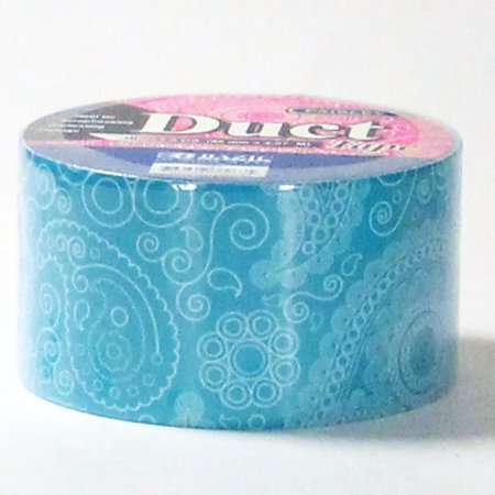 Duct Tape Paisley Print Designer Crafting Decorative Color - 1.88 inch. x 5 yd (Aqua - Duct Tape Colors