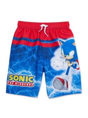 Sonic the Hedgehog Boys 4-7 Swim Trunks