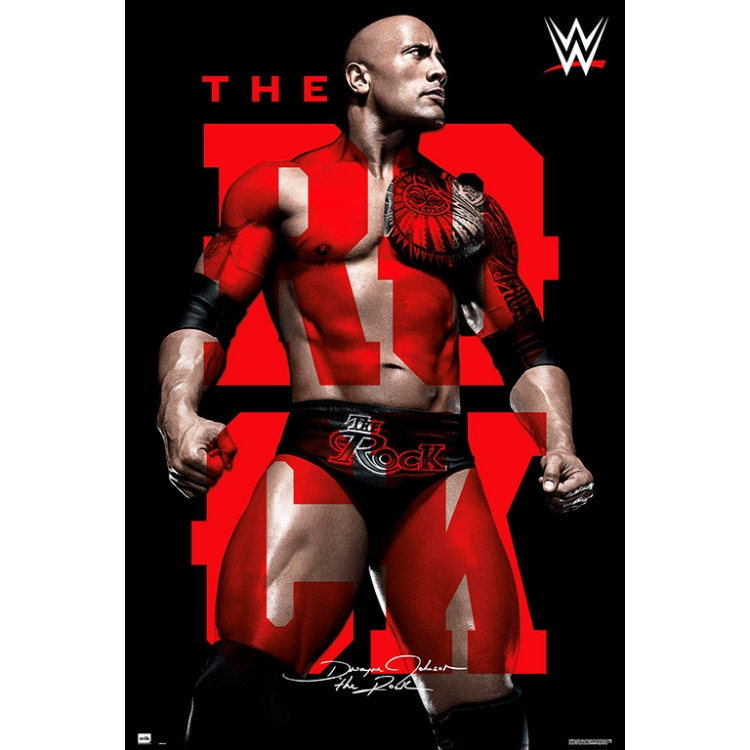 Wwe The Rock Poster Poster Print