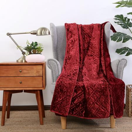 Better Homes & Gardens Crushed Velvet Throw Blanket, 1 - 56 Inch Red Velvet