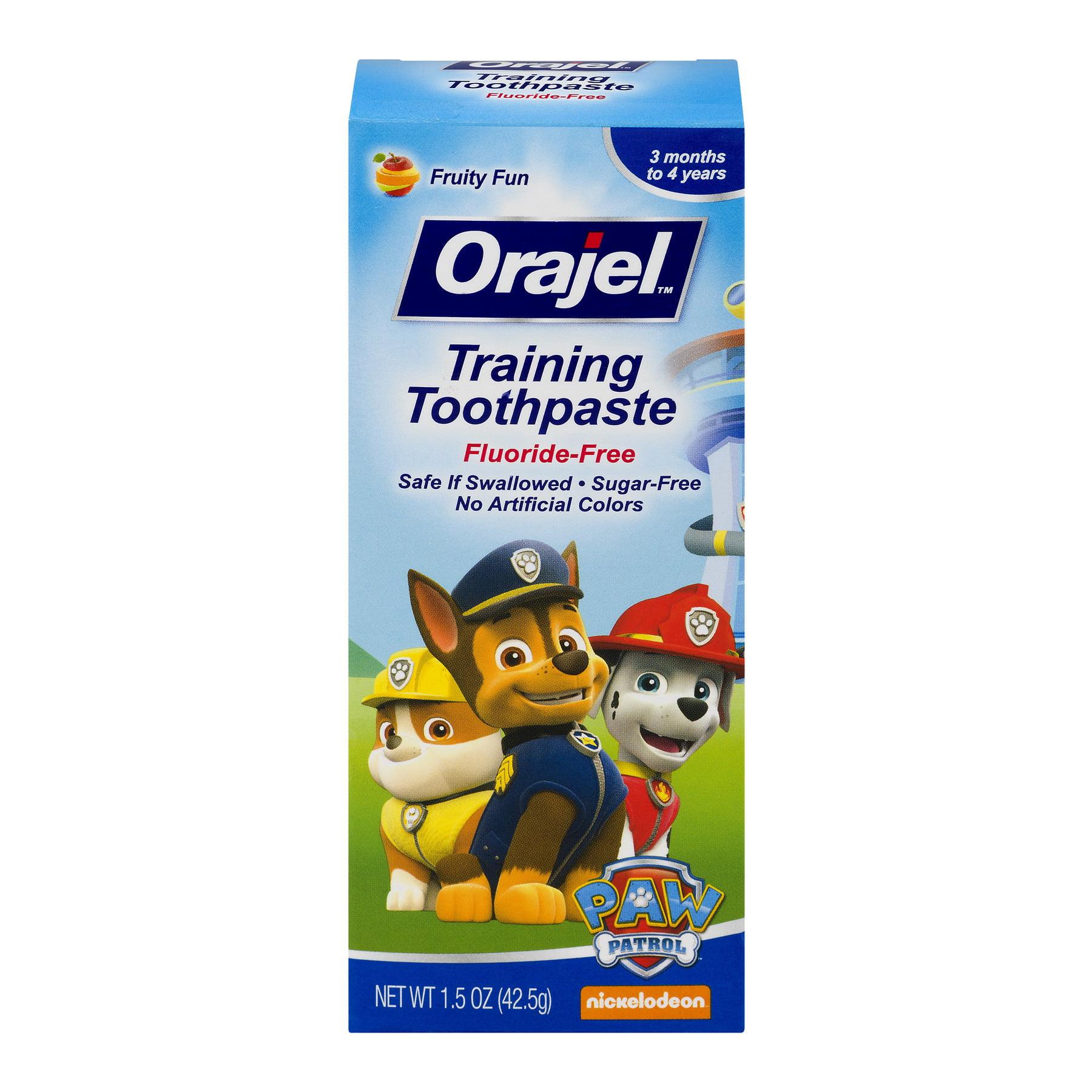 Orajel Training Toothpaste Fluoride-Free Paw Patrol, 1.5 OZ