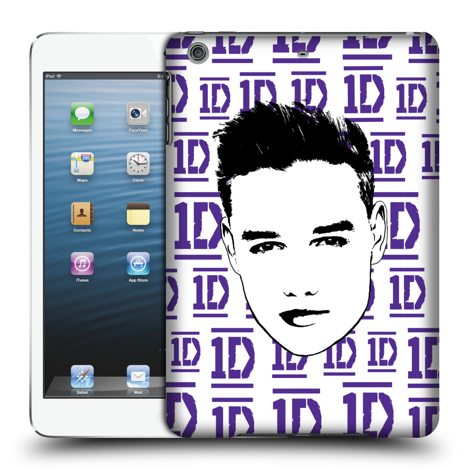 OFFICIAL ONE DIRECTION GRAPHIC FACE LIAM HARD BACK CASE FOR APPLE IPAD