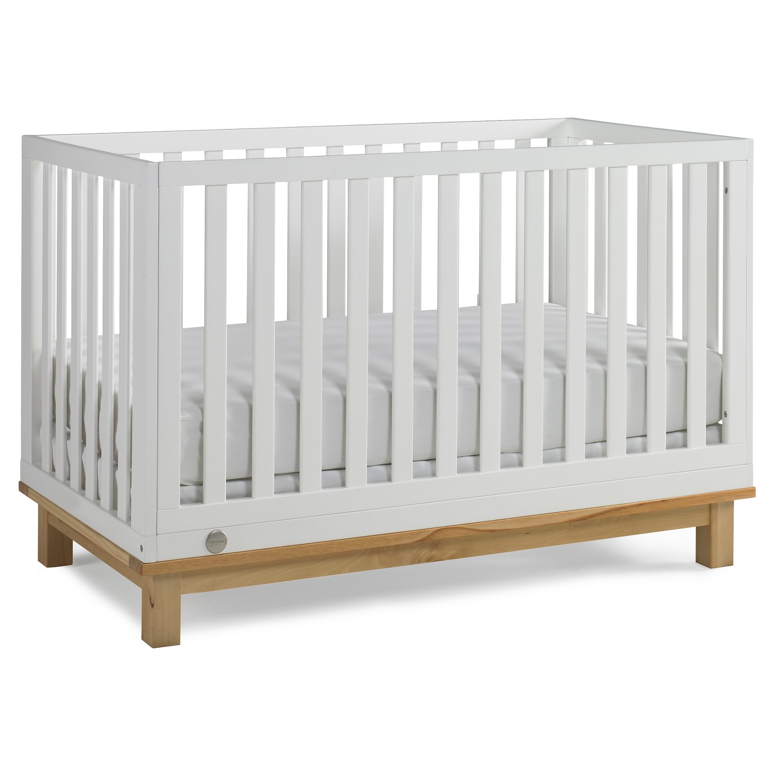 Fisher-Price Riley 3 in 1 Convertible Crib Snow White and Natural