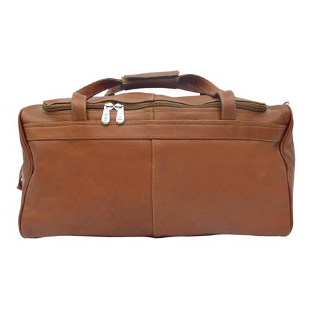 Piel Leather Travelers Select Small Duffel Bag - Saddle