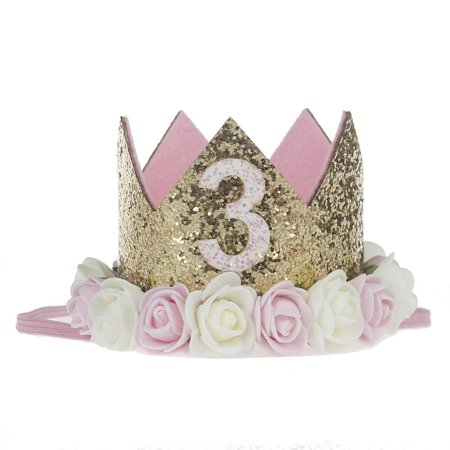 Legendog Dog Birthday Hat Cute Glitter Crown Flower Headwear Pets Party Supplies Decorative Accessories For Puppy Cat Small Animals1 3