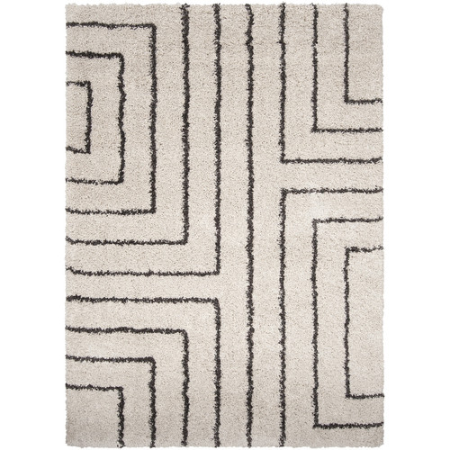 Surya Kodiak White & Charcoal Area Rug
