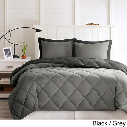 Comfort Classics Windsor Stain Resistant Reversible 3-piece Comforter Set King-Brown/Sand