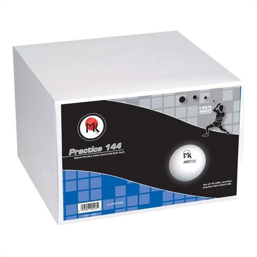 Martin Kilpatrick MK Practice Ping Pong Ball, Bulk Pack of 144 in White