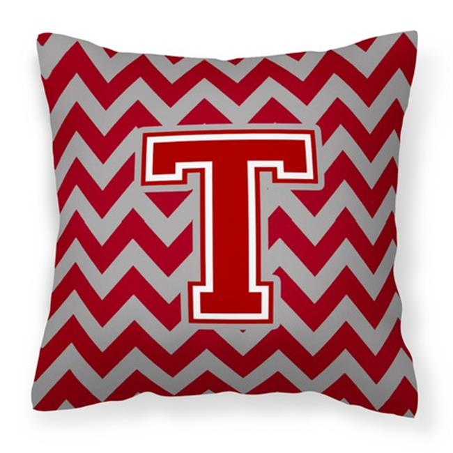 Carolines Treasures CJ40TPW40 Letter T Chevron Maroon White Cool Maroon Decorative Pillows