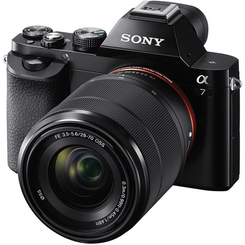 Sony Alpha a7 Full Frame Mirrorless Camera w  28-70mm full frame lens Black by Sony