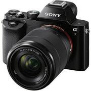 Sony Alpha a7 Full Frame Mirrorless Camera w/ 28-70mm full frame lens - Black