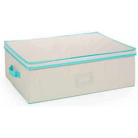 MyCraft Large Craft Organizer Storage Box, Cream/Blue