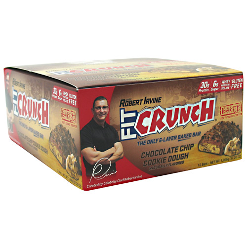 Fit Crunch Bars Fit Crunch Bar Chcolate Chip Cookie Dough 12 Bars (PACK OF 2) by U-Nutra