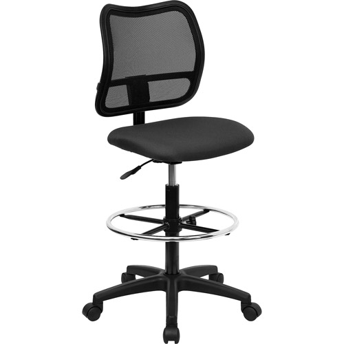 Ergonomically Contoured Mesh Back Drafting Stool, Multiple Colors
