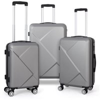 Deals on Calo 3 Piece Hardside 8-wheel Spinner Suitcase Luggage Set